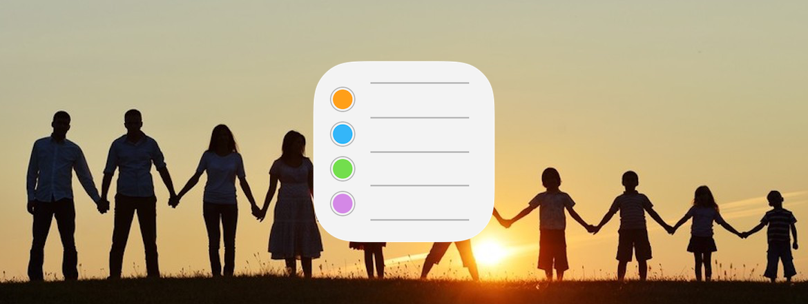How You Can Share Reminders Using Family Sharing