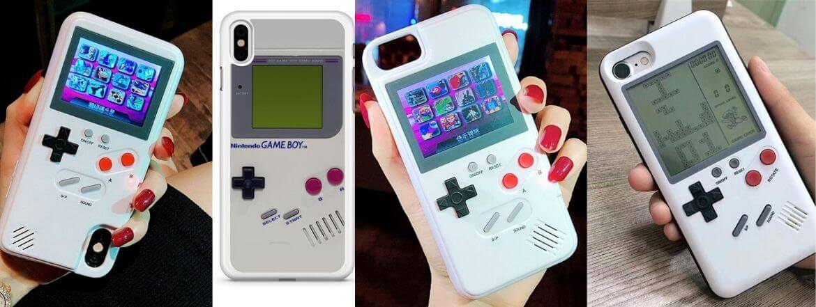 Use This Case To Get An Additional Screen On Your iPhone's Back And Convert It Into Your Working Game Boy Color With Access To 36 Classic Games